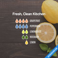 Fresh, Clean Kitchen - Essential Oil Diffuser Blend