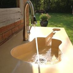 Outdoor tap with a difference