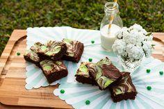 Brownie mármore de chocolate e menta - O Chef e a Chata