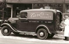 Carl's Market panel truck
