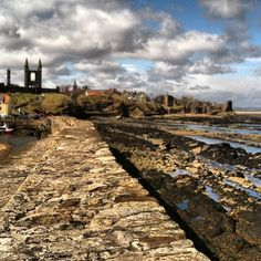 St Andrews, pier, Cathedral and Castle - Photo by teresafcampbell
