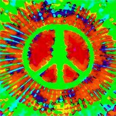 ☮ American Hippie Art ~ Peace Sign