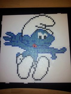 Smurf hama perler beads by Lynoute -Pattern: http://www.pinterest.com/pin/374291419004594924/