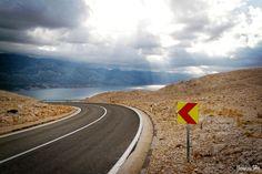 Droga na wyspie Pag