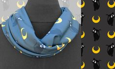 Sailor Moon Insp. Infinity Scarf in Luna by BebeAndGeorge on Etsy