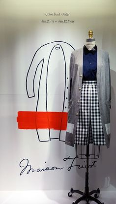 maison TOMORROWLAND ART FRAME 「Maison Tricot」 12.26. Fri.~ Shinjuku Tokyo, Tokyo Japan, Retail Windows, Store Windows, Boutique Decor, Fashion Boutique, Fashion Graphic, Fashion Design, Window Shopper