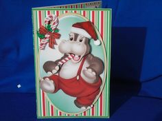 Hungry Hippo Christmas Card Kit by Susan Smith