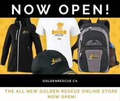 Have you checked out our new and improved Golden Rescue Online Store? What are you waiting for?! Visit goldenrescue.ca and click the 'SHOP' tab to check out all the fabulous items for sale! New items arriving weekly! Every purchase helps Goldens in need. It's a win-win! #goldenretriever #rescuedog #onlineshopping #shop New Item, Rescue Dogs, Motorcycle Jacket, Buy Now, Swag, Store, Check, Waiting, Shopping