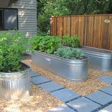 side yard landscaping with horse trough | You can also build raised beds out of cedar (untreated) boards so they ...