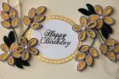 Elegant Handmade Birthday Greeting Card  by oldladybern, via Flickr
