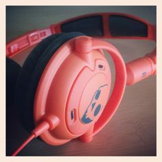 Orange Skull Candy headphones save the day!