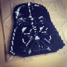 Star Wars Darth Vader perler beads by smargetts Hama Beads Patterns, Beading Patterns, Perle Hama Star Wars, 8 Bits, Peler Beads, Perler Bead Art, Fuse Beads, Plastic Beads, Kandi