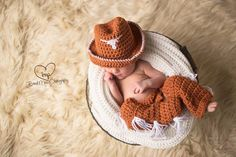 Hey, I found this really awesome Etsy listing at https://www.etsy.com/listing/188522611/newborn-ut-longhorn-set