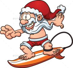 Surfing Santa - People Characters