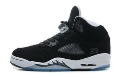 e9fe8b655da Mens Air Jordan 5 Retro Oreo Black Cool Grey-White Jordans Sneakers