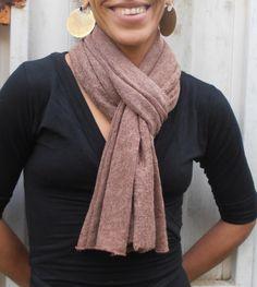 Asymmetrical Scarf Unique Wool Jersey Fabric by FashionAndScarves