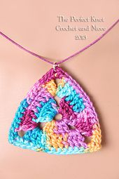 Perfect Symmetry Triangle Pendant - pattern by The Perfect Knot