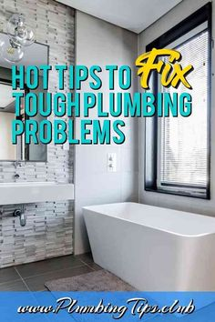 If you need to locate a pipe under the floor, attach a strong magnet to a solid line coated with fish tape * Know more details by click the image. Plumbing Problems, Bathtub, Learning, Tips, Strong, Floor, Image, Standing Bath, Pavement