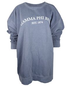 Gamma Phi Beta 1874 Sweatshirt by Adam Block Design | Custom Greek Apparel & Sorority Clothes | www.adamblockdesign.com