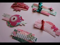 Make your own embellishments using your paper scraps - YouTube