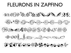 Fleurons in Zapfino font. Beautiful <3