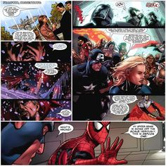 Civil War Issue 6 -  In Connecticut Tony and Reed personally invite Miriam the mother that spit in Tonys face during her sons funeral to a memorial site for those lost in the explosion. She thanks them for honoring her son and the others but feels bad for the cost the Civil War has had on the super hero community but Tony eases her by saying there is no shame in making enemies if it means making people safe again   In the North Pole Dr. Strange is fasting still and is visited by The Watcher…