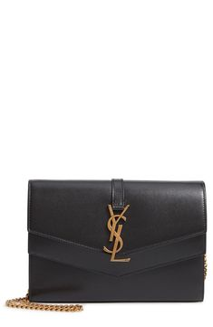 79963d4f06 Saint Laurent Sulpice Leather Crossbody Wallet #leathercrossbodywallet Pony  Hair, Leather Satchel, Leather Wallet