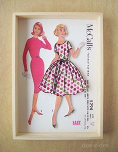 McCall's 5294 Sewing Pattern Embroidery Collage/doe-c-doe embroidery via etsy