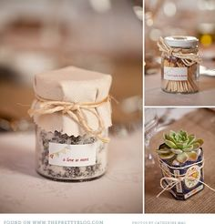 Gift idea, something wrapped in mason jars, custom stamped tags
