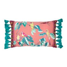 Butterfly Home by Matthew Williamson Pink bird applique cushion- | Debenhams