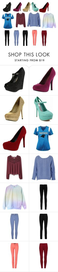 """Clothes shopping"" by catvalentine24 ❤ liked on Polyvore featuring Breckelle's, Qupid, Delicious, MANGO, AG Adriano Goldschmied, River Island, Yves Saint Laurent and Oui"