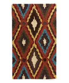 Brown & Blue Enzo Indoor/Outdoor Rug by Loloi Rugs #zulily #zulilyfinds