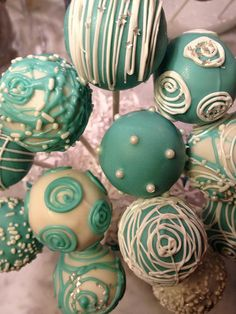 "IMG_4935 ""Tiffany Blue"" cake pops!"