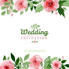 Convite floral do casamento
