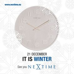 Winter is here! Winter Is Here, Fun Stuff, Clock, Ads, Night, Fun Things, Watch, Clocks