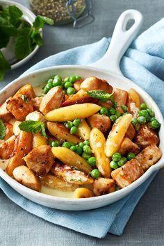 """Schupfnudelpfanne """"Schneller Teller"""" - Random Tutorial and Ideas Crock Pot Recipes, Pork Recipes, Chicken Recipes, Cooking Recipes, Healthy Recipes, Healthy Chicken, Clean Eating, Healthy Eating, Good Food"""