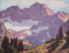 "Edgar Payne ""Palisade Glacier, Sierra Nevada Mountains, 1920"", 11.75 x 15 inches, oil on canvas."