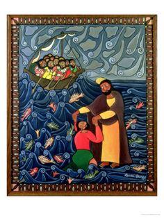 size: Giclee Print: Jesus Walks on Water Art Print by Laura James by Laura James : Artists Worship Images, Laura James, Walk On Water, Biblical Art, Water Art, Sacred Art, Christian Art, Religious Art, Find Art
