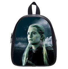 The Hobbit protagonist Elf prince Legolas Custom Black Kids Backpack School Bag Small * Visit the image link more details.