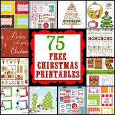 75 FREE Christmas printables