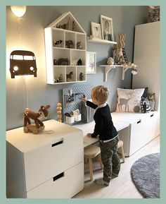 Playroom Ideas - These playroom design ideas are fit to little rooms and also larger rooms, to open-plan locations and to rooms with doors (you can firmly close). ideen ikea 30 Best Playroom Ideas for Small and Large Spaces Kids Playroom Rugs, Playroom Design, Kids Room Design, Playroom Decor, Baby Room Decor, Bedroom Decor, Playroom Ideas, Ikea Kids Room, Ikea Bedroom