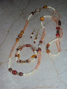 Set with pearls & old ivory beads