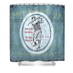 Choose your favorite golf shower curtains from thousands of available designs. All golf shower curtains ship within 48 hours and include a money-back guarantee. Golf Theme, Vintage Golf, Fine Art America, Curtains, Shower, Blue, Design, Rain Shower Heads, Blinds