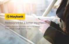 Maybank App - Material Design on Behance