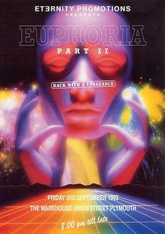 B/D Special Post: rave flyers Sci Fi Background, Party Background, Techno, Acid House, Retro Images, Pop Culture Art, Invitation, Retro Futuristic, Creepy Art