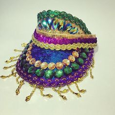 *** THE MARDI GRAS VISOR HAT *** THE limited edition Mardi Gras carnival hat. Dripping in rhinestone jewels and sequins in the Mardi Gras themed gold purple and green colours. Add this to your glorious costume and stand out from the colourful crowd! These are made to order. Ts & Cs
