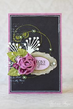 My Creative Space: 'Love you' summer card