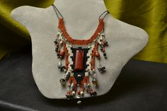 Red Jasper Woven Necklace 762 by avidweaver on Etsy