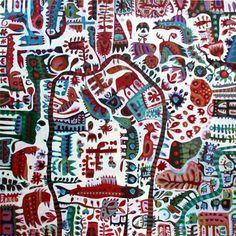 """Gus Leunig ~ """"The Small One"""" Acrylic on canvas 72 x 72 cm via Libby Edwards Galleries"""