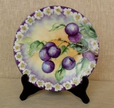 Antique Jean Pouyat Limoges Plate by VtgDreamCollectibles on Etsy,